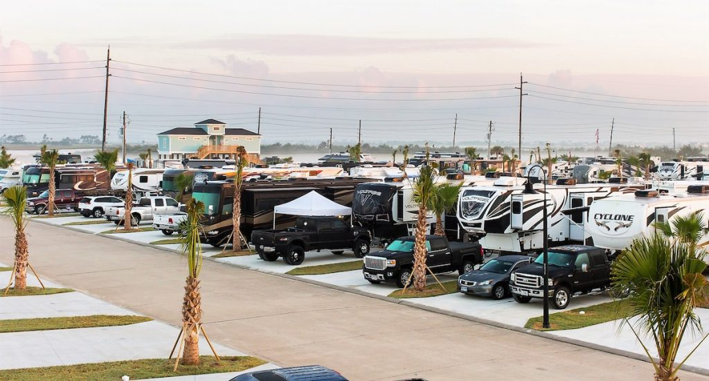 Full RV campground at our Galveston RV Park