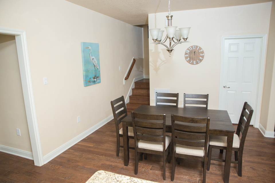 Sunny Smile vacation house dining room in Galveston RV park