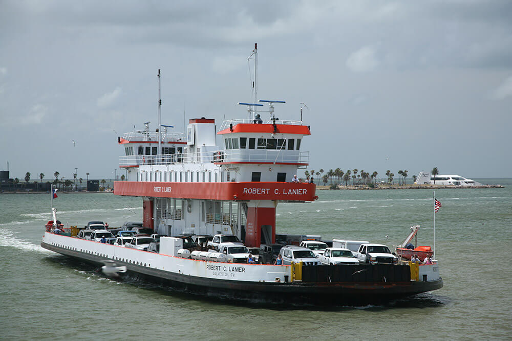The Galveston Island Ferry | Stella Mare RV Resort